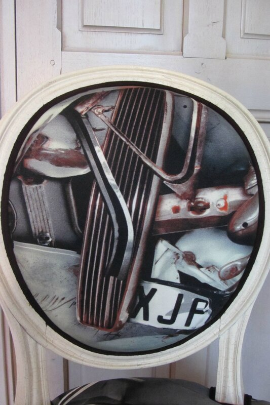 tissu fangio jean paul Gaultier tapissier côté sèegs à Bohars