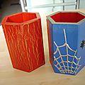 Pots à crayons Spider-man et rouge - or