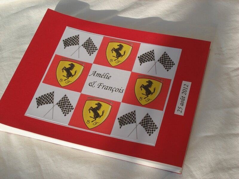 livre d'or voitures de sport Ferrari