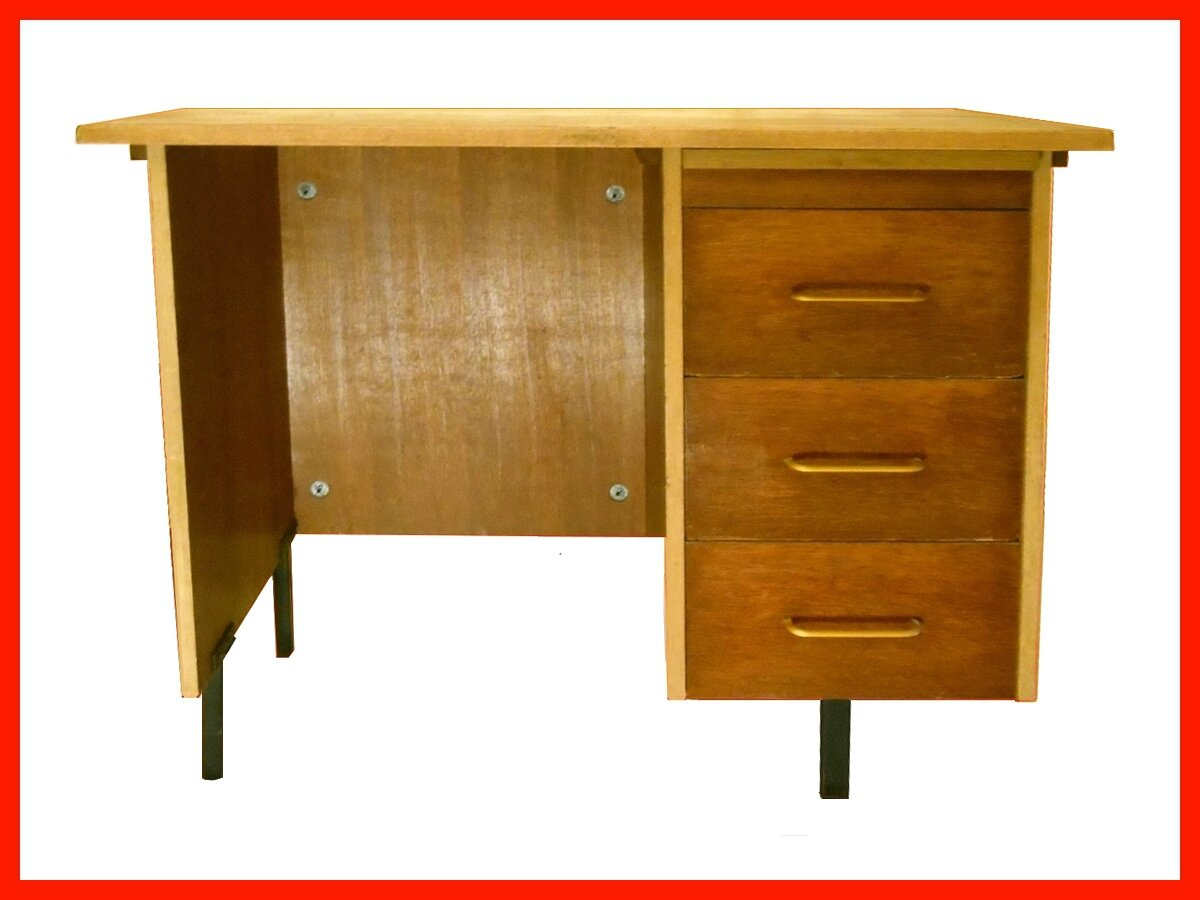 bureau vintage annees 60 70 meubles d co vintage design scandinave. Black Bedroom Furniture Sets. Home Design Ideas