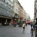 Serbie, Belgrade, rue commercante