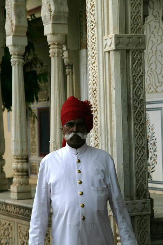 A Guard at the City Palace