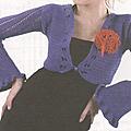 Vêtements femme au crochet #2 : boléro à fleur
