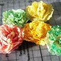 Fleurs en papier de soie...