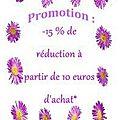 Promo 15 % de réduction