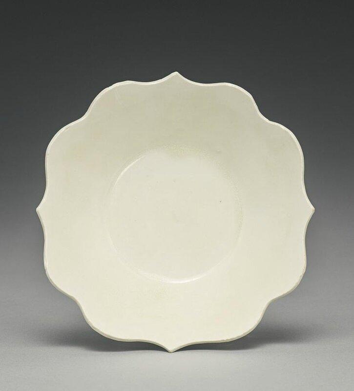 A 'Ding' quatrefoil dish, Tang-Five Dynasties