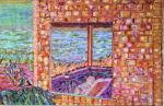 pierre-bonnard-Détail la terrasse ensoleillée l1939-1946