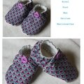 chaussons violet