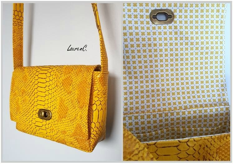 SAC SIMILI DRAGON JAUNE COTE GROUPE