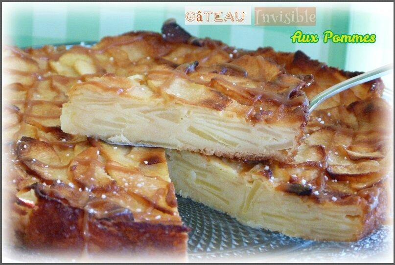 """ღ """" Miam """" { Gâteau } L'invisible aux Pommes"""
