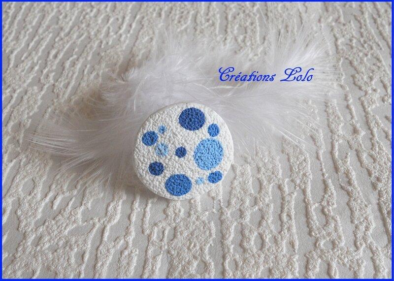 299 - Bague pois bleu