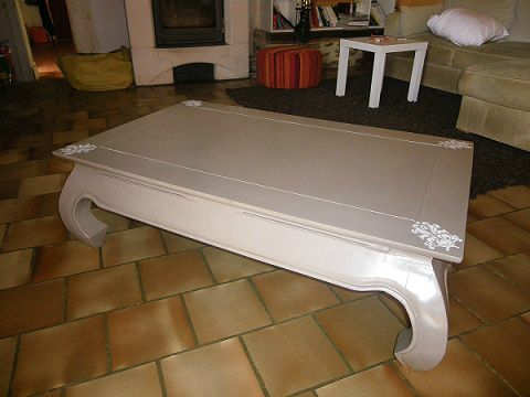 Table basse indienne avant apr s meubles relook s - Meuble relooke avant apres ...