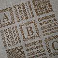 Ouvrage 9 carrés : abc frises