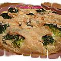 Clafoutis aux brocolis et maroilles