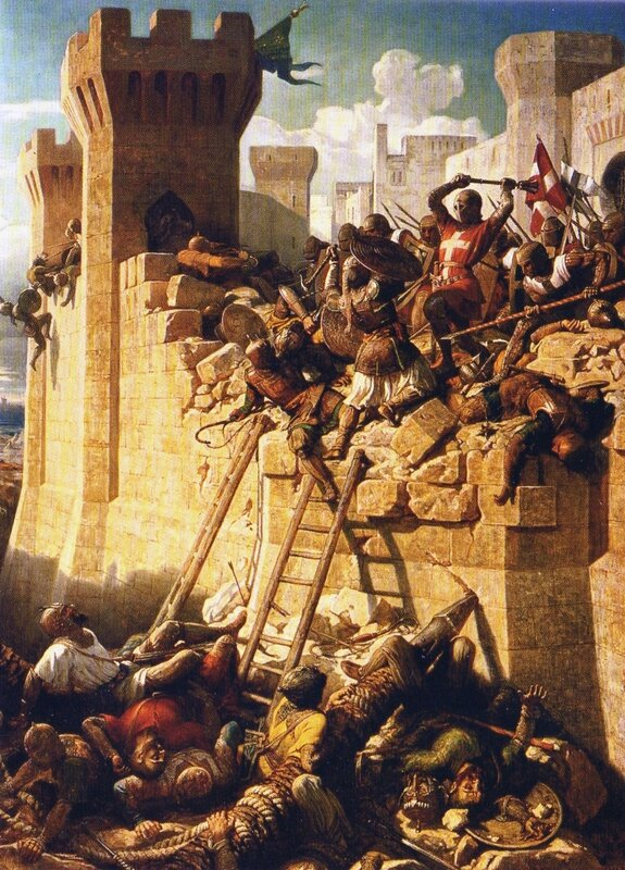 the-siege-of-acre-the-hospitalier-master-mathieu-de-clermont-defending-the-walls-in-1291-de-dominique-papety