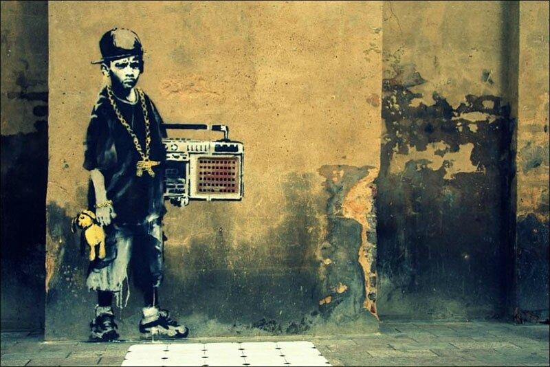 Banksy, aucun fait social ne sait lui résister tant il est incisif et décoiffant dans son art.
