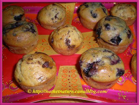 Mini muffins choco-banane et mini muffins aux myrtilles - 4