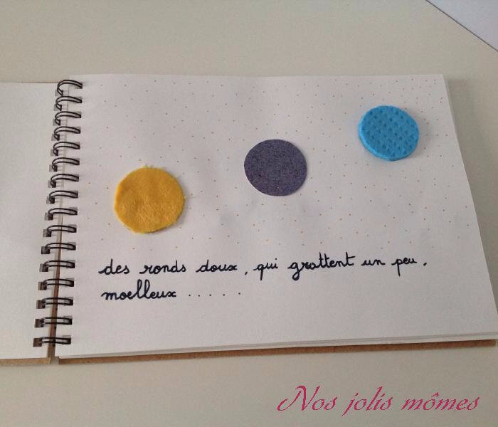cahier tactile page 3