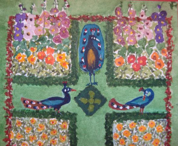 Peindre une miniature le jardin imaginaire un trait de for Le jardin imaginaire