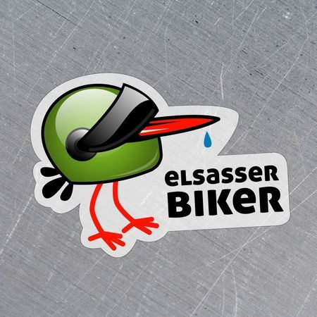 sticker Elsasser biker