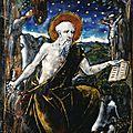 Belle plaque en émail peint représentant saint jérôme pénitent, limoges, milieu du xvie siècle
