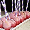 Macarons façon pomme d'amour