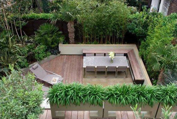 amenagement-petit-jardin-anglais-moderne - Photo de Photos d ...