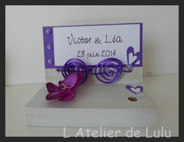 porte stylo orchidees violet