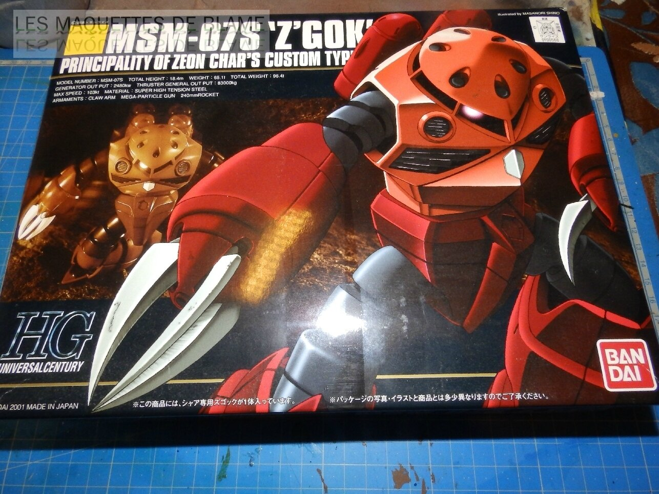 """MSM-07S Z'GOK CAMMANDER TYPE """"ABANDONED AND RUST CUSTOM"""" MONTAGE RAPIDE!!!"""