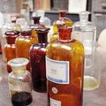 19' century old chemist bottles