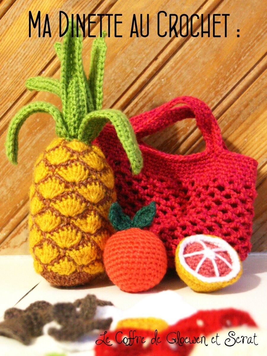 Tuto Amigurumi Fruit : 03 Crochet - le coffre de Scrat et Gloewen, couture ...