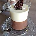 Panna cotta double chocolat