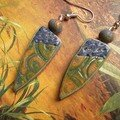 Boucles d'oreilles avec un hidden magic (recette Mathilde Colas)