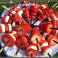 brochettes mikado aux fraises