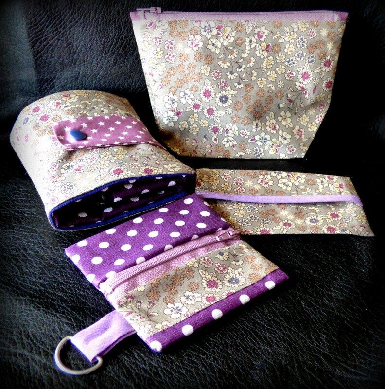 Porte-monnaie Frou-Frou - couture - violet m30mKSNW