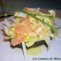 Salade d'endives et pamplemousse sur avocat