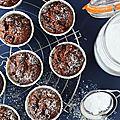 Muffins chocolat gourmands et sans gluten, sans plv, sans oeuf