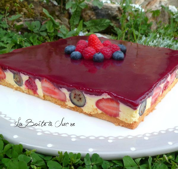 Bavarois citron fruits rouges 2