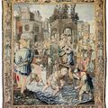 A french allegorical tapestry. paris, mid-17th century