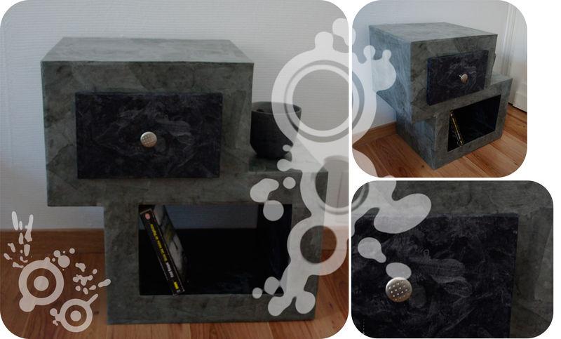 chevet noir fleur de carton. Black Bedroom Furniture Sets. Home Design Ideas