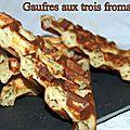 Gaufres aux trois fromages