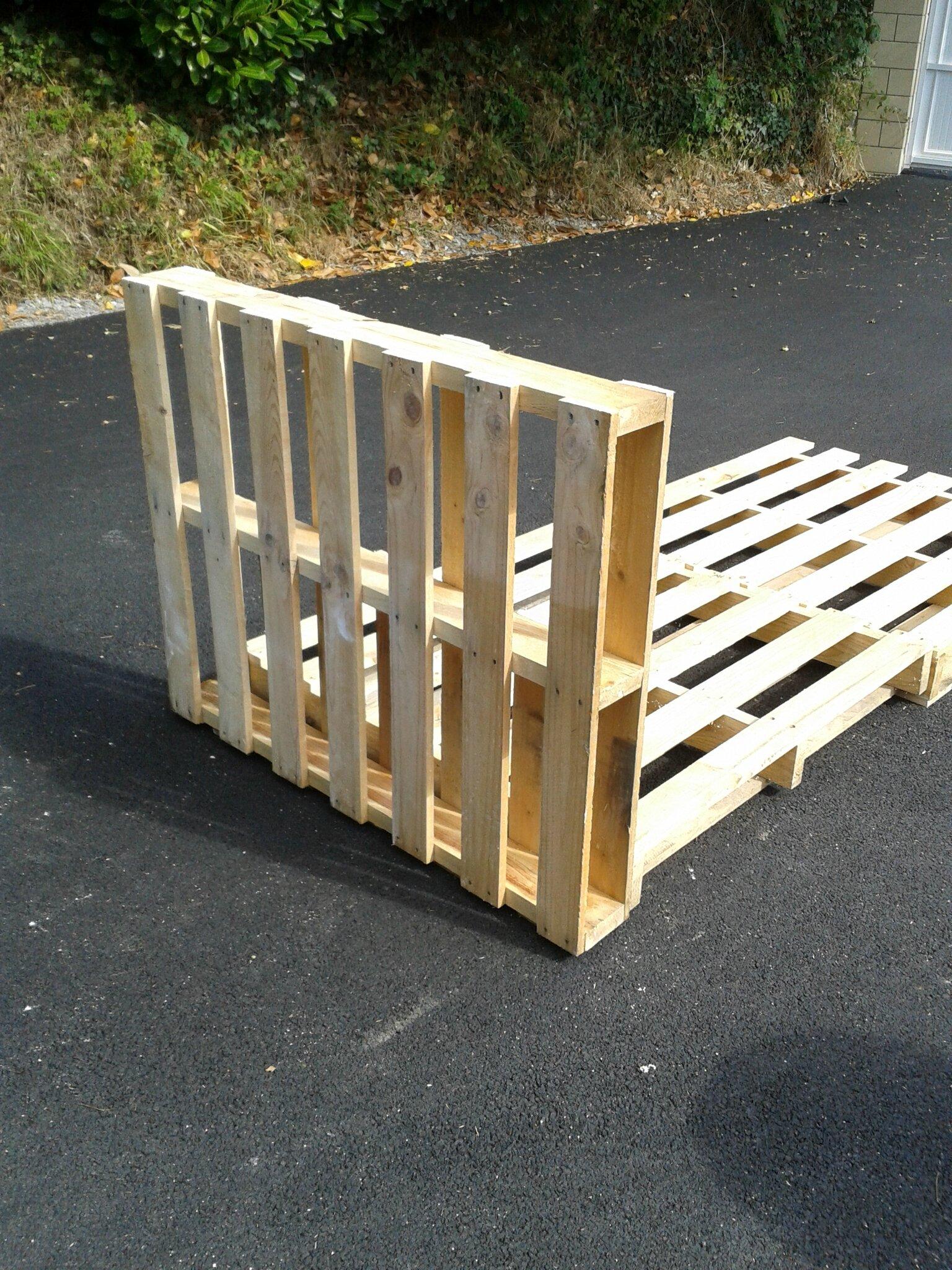 recycler des palettes en lit 1 personne - 1,2 et 3 breizh