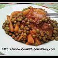 Cuisses de poulet et petit pois carottes...