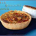 Quiche au thon, poivrons et mozzarella