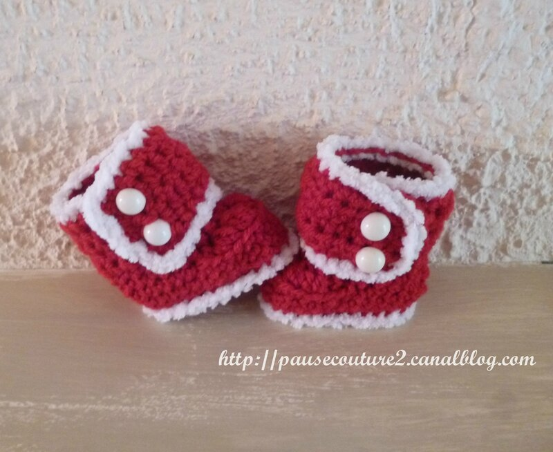 Chaussons Ugg rouges (1)