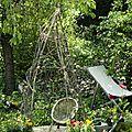 Tuto : la cabane petits pois (ou tipi haricot)