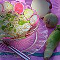 Salade aux radis roses japonisante