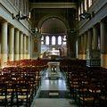 Sous la nef de l'église Saint-Jacques Saint-Christophe de la Villette.