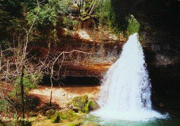 1872) cascade du Bugey (Ain)