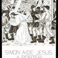 5- Simon de Cyrène aide Jésus a porter Sa Croix
